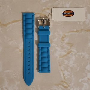 Fossil 18mm aqua silicone watch strap